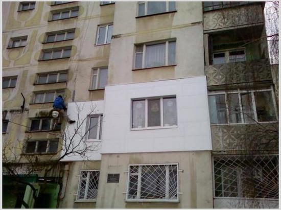 ремонт наружной стены